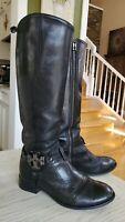 Tory Burch Amanda Mid Heel Tall Riding Boots Size 7.5, $495