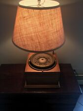 Antique John Bliss Co. Liquid Filled Brass Ship's Compass in Lamp Base