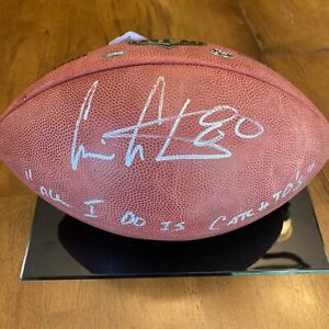 """Cris Carter Signed Autographed The Duke Football """"All I Do Is Catch TD's"""""""