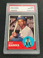 Chicago Cubs Ernie Banks 1963 Topps #380 PSA 8 Near Mint-Mint