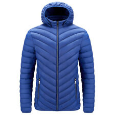 Men's Casual Slim Solid Color Hooded Simplicity Keep Warm Sports Padded Jacket