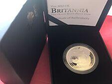 2012 Royal Mint 1oz Silver Proof Britannia £2 Two Pounds Coin Boxed & COA