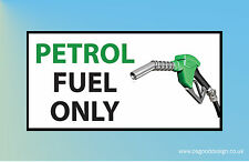 Petrol Fuel Only Reminder Sticker Car Petrol Cap Car Van Lorry Hire Lease B080
