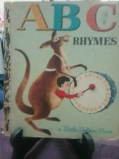 ABC RHYMES Little Golden Book 1964 First Australian Edition (G/C)