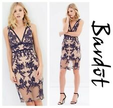 BARDOT SEXY * FLORA * EMBROIDERED MESH PENCIL SHEATH  DRESS  Sz S 6   NEW  $ 139