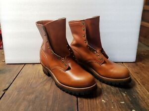 US Made Northwest Oil Tanned Logger Boots with Vibram Cork Sole, 13E