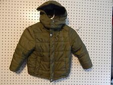 Boys Youth Calvin Klein hooded winter jacket - size XL - 7X ~ army green