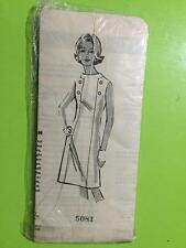 Sewing Pattern 5081 Misses Dress Vintage Size Unknown Precut