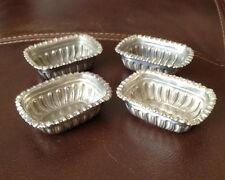 Edwardian Hallmarked Silver Table Salts - William Davenport - Birmingham 1907