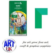 Reeves Artists Acrylic Colour Rutland Easel Set painting tubes palette gift box