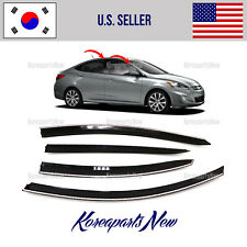 SUPER SMOKED DOOR WINDOW VISOR DEFLECTOR fits for HYUNDAI ACCENT SEDAN 2012-2017
