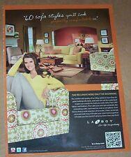 2011 print ad page - BROOKE SHIELDS for La-Z-Boy furniture ADVERTISING Advert