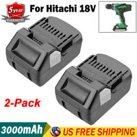 2X Replace for Hitachi BSL1815S 18V HXP Li-Ion Battery BSL1815X BSL1825 BSL1830