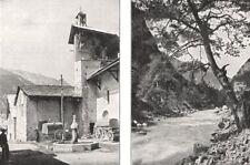 HAUTES- ALPES. En Queyras. Village de Ceillac; Le Guil, près D'abriès 1900