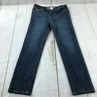 Grace In LA Womens Regular Fit High Rise Straight Leg Blue Jeans Size XL