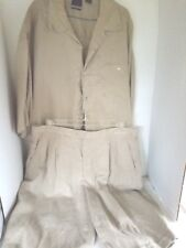 Jordan Craig Shirt and Shorts XL 100% Linen  Beige Casual Dressy Wear
