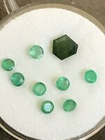 Emeralds Natural, Genuine, Earth Mined  2.5 - 3mm Round  Very Good Clarity