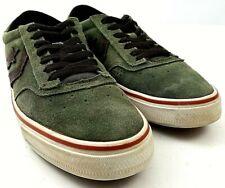 Converse Trapasso Pro II Green Suede Black Low Top Skate Shoes Men's Size 8