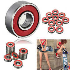 10x ABEC-7 Skateboard Longboard 608zz Skate Roller Hocker Wheel Steel Bearings #