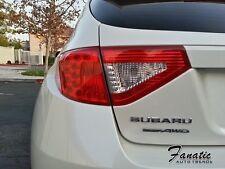 08-14 WRX STi Tail light Overlays Reverse Cutout REDOUT RED JDM Tint Hatchback