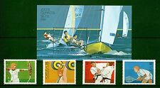 [Portugal 1988 - Olimpic Games of Seoul - Sports] Souv. Sheet and set MNH