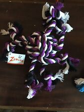 ROPE TOY FOR DOGS Crazy 8 Dog Toy Tug Knot Chew New Purple New