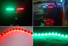 "4X 12"" Boat Bow Navigation 5050 LED Light Submersible Marine Strip Red Green 12V"
