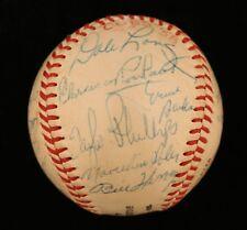 1958 Chicago Cubs Team Signed National League Baseball Ernie Banks JSA COA