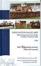 WINCANTON RACECARD THURSDAY 11 MARCH 2004 VGC
