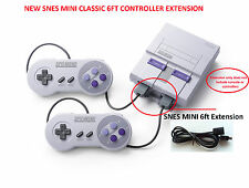 2 SNES Mini Classic Super Nintendo System Console Controller Extension Cable 6FT