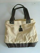 Tequila Patron Insulation Cooler Tote Bag Beige w/ Brown Leather Trims size L