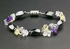 Magnetic Bracelet Hematite Bead Purple Stone Therapy Healing Clasp Multi Color