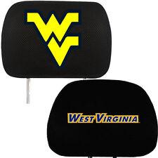 License NCAA West Virginia University Mountaineers Head Rest Covers Universal