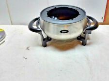 Oster Titanium Infused DuraCeramic 3 Qt Cheese Chocolate Fondue Pot No Folks