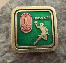 1980 Moscow Russia Summer Olympic Games Handball Hand Ball Event Pin Badge