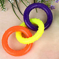 Three Color Ring Pet Molar Tooth Cleaning Bite Resistant Dog Chew Toys Reliable