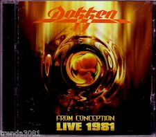 DOKKEN From Conception Live 1981 CD Classic 80s Rock Breaking the Chains Paris