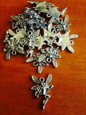 Antique Silver Fairy charms x 15