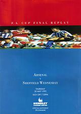 * 1993 FA CUP FINAL REPLAY - ARSENAL v SHEFFIELD WEDNESDAY (RARE) *