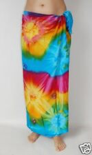 NEW MULTI COLOUR TIE DYE SARONG SKIRT PAREO WRAP BEACH POOL COVER UP BNIP/ sa198
