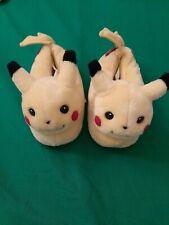 Vintage 1998 Pokemon Pikachu Plush Soft Slippers Home Warm Size M13-1