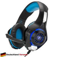Gaming Headset Kopfhörer 3.5mm Surround Bass Sound für PS4 PC Laptop XBox One