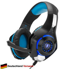 Gaming Headset Kopfhörer 3.5mm Surround Bass Sound für PS4 PC Laptop XBox One