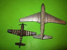 2 Vintage Die Cast Planes, Large Jet Plane is Dinky Supertoys Comet G-Alyv