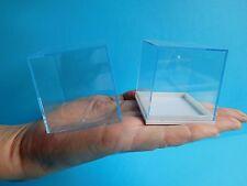 10 Perspex Clear Lid Mini Cube Square Specimen Crystal Display Box 50 x 50mm