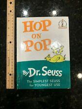 """Hop on Pop Dr. Seuss beginner hardcover book 24 6.75""""x 9.25"""""""