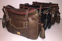 Dooney & Bourke Toledo Leather Small Smith Bag Black Gray Olive TS167 NWT