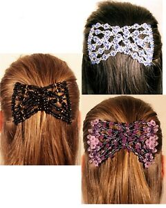 Stretchy EZ Double Comb Hair Clip Different Hair Styles Wedding Party Fashio