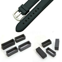 Black Rubber Silicone Watch Band Loop Strap Small Holder Locker Keeper Fit Most