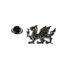 Heraldic Welsh Dragon Pewter Lapel Pin Badge XWTP031